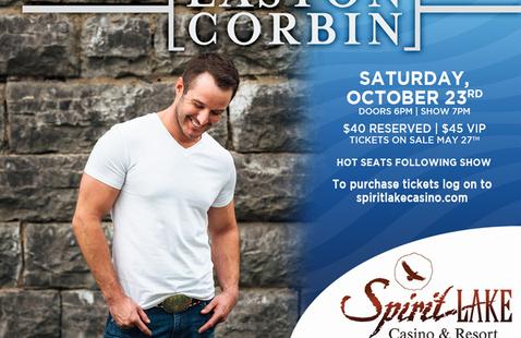 Easton Corbin @ Spirit Lake Casino