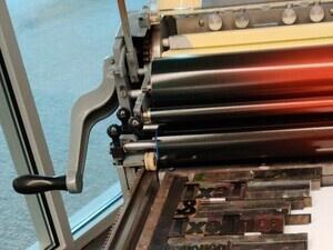 photo of Vandercook SP15 proof press