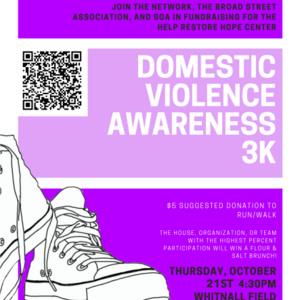 Domestic Violence Awareness 3K for Help Restore Hope