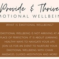 Provide and Thrive- Emotional Wellbeing