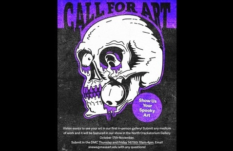 Vision's Spooky Gallery Call for Art Poster