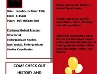 Promotion of Open House:  4:45 on Tuesday October 19