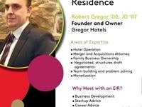 PIHE Entrepreneurs in Residence: Robert Gregor '00, JD '07