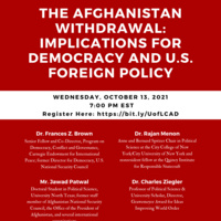 The Afghanistan Withdrawal: Implications for Democracy and U.S. Foreign Policy