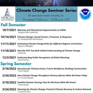 Morgan Climate Change Seminar Series - Presented by NOAA