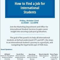 How to Find a Job for International Students
