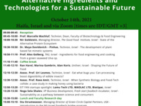 Conference: Alternative Ingredients and Technologies for a Sustainable Future