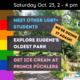 rainbow colors and event listings