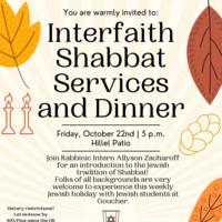 Interfaith Shabbat flyer