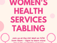 Women's Health Services Tabling