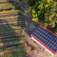 solar on barn at SOU Farm