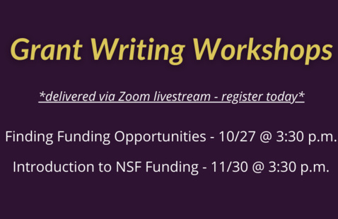 Grant Writing Workshop: Finding Funding Opportunities