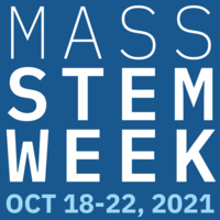 """Square with the text """"Mass STEM Week, Oct. 18-22, 2021"""""""