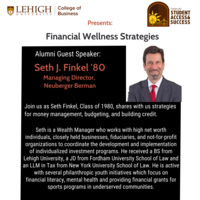 Alumni Guest Speaker Seth J. Finkel '80: Financial Wellness Strategies