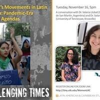 Women's Movements in Latin America: Pandemic-Era Political Agendas (a conversation)
