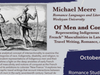 """Michael Meere, """"Of Men and Conquest: Representing Indigenous and """"New French"""" Masculinities in Late Renaissance Travel Writing, Romance, and Drama"""""""