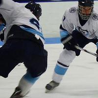 URI hockey players during game