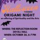 Halloween Themed Origami Night