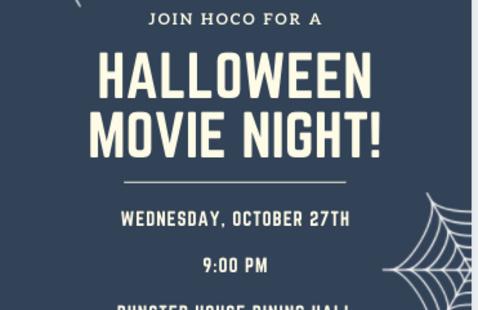 Dunster House Halloween Movie Night
