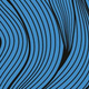 curved blue lines with black outlines