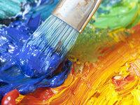 paintbrush in paint
