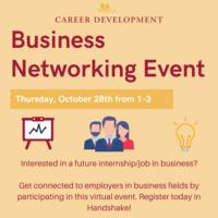 Career Development Business Networking Event