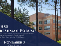 CHSS Freshman Forum