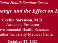 Global Health Seminar Series: Climate Change and the Effect on Health