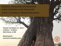 Africa Summer Internship Info Session and Summer '21 Presentations