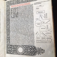 First printed edition of Euclid's Elements. Venice, 1482