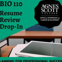 BIO 110 Resume Workshop with Career Peers