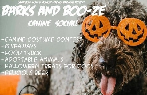 Barks and Boo-ze flyer