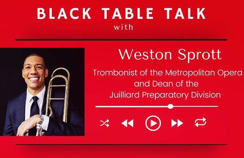 Black Table Top: Weston Sprott