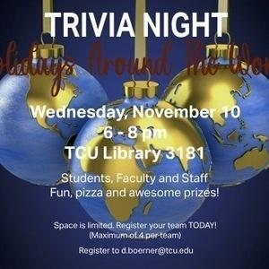 Trivia night poster