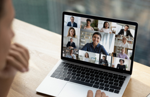 Photo of an online meeting