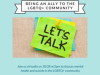Mental health in the LGBTQ+ Community Virtual Discussion