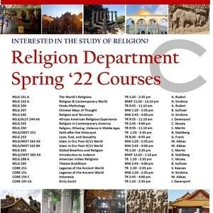 Religion Dept S'22 Courses