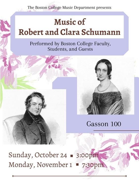 Music of Robert and Clara Schumann, Concert 2