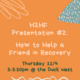 How to help a friend in recovery poster