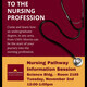 Poster for nursing pathway information session Nov 2, at noon, in Science 2185
