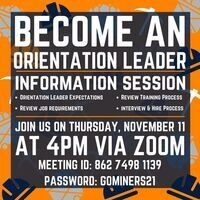 Become An Orientation Leader: Information Session