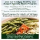 Cooking Healthy and Budget Friendly Meals Program
