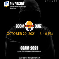 Live Zoom Trivia Contest - Cyber Security Awareness Month
