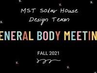 Solar House - General Body Meeting