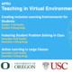 Teaching in Virtual Environments Webinar Series