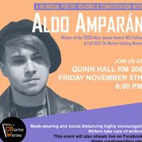 Bilingual Poetry Reading & Conversation with Aldo Amparán
