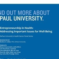 Entrepreneurship in Health: Addressing Important Issues for Well-Being