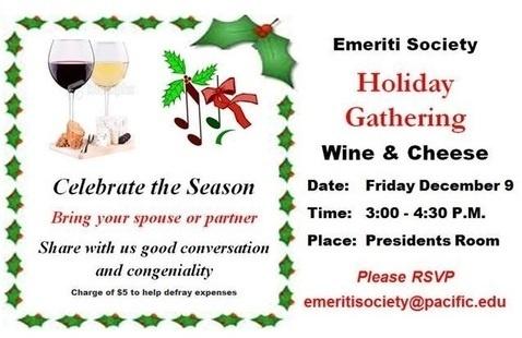 Emeriti Society Holiday Wine & Cheese