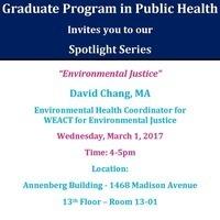 Graduate Program in Public Health Spotlight Series: Environmental Justice