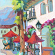 """Early Morning Coffee in Old Town La Quinta II"" by Diane McClary"